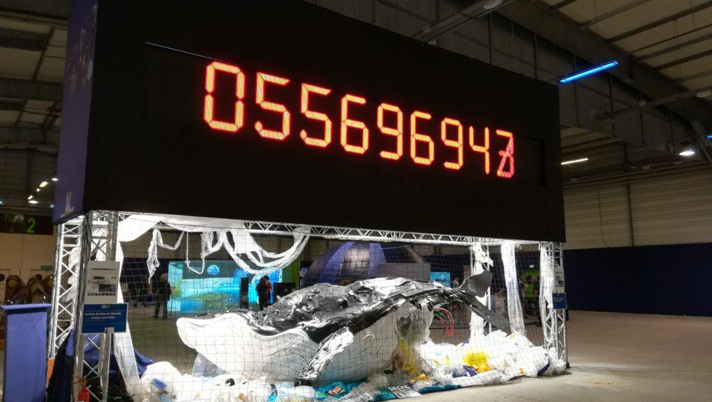 Installation à La Mer XXL : Compteur déchets
